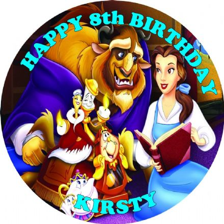 Beauty & the Beast Edible Cake Topper